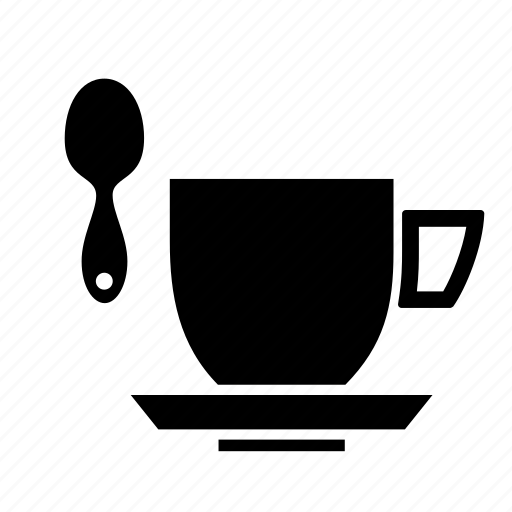 coffee, cup, mug, spoon icon