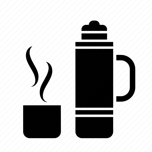 bottle, coffee, flask, hot, thermos, thermos bottle, thermos flask icon