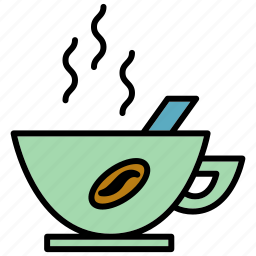 cafe, coffee, cup, hot, office, relax, work icon