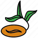 cafe, coffee, coffee plant, grown, office, work icon