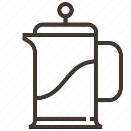 beverage, coffee, drink, french press, pitcher icon