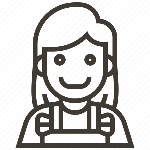 avatar, barista, girl, woman icon