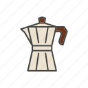 coffee, line, maker, thin icon
