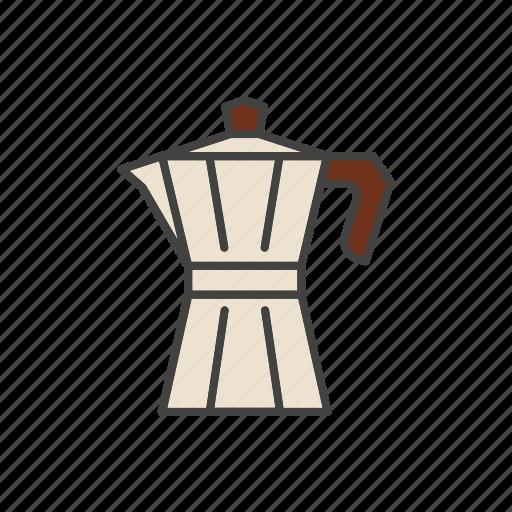 coffee, line, maker, thin icon