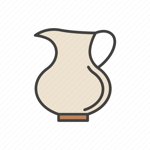 coffee, jug, line, milk, thin icon