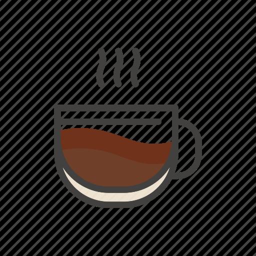 coffee, cup, drink, hot, line, mug, thin icon