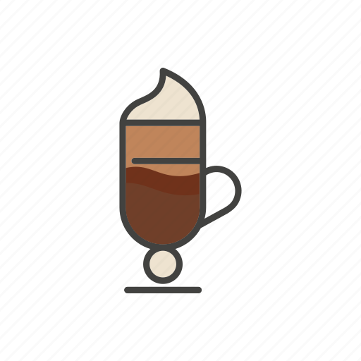 coffee, drink, latte, line, thin icon