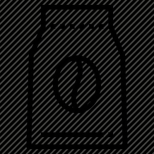bag, beverage, coffee, drink, foil icon