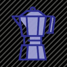 cafe, coffee, coffee bar, drink, moka, pot, restaurant icon