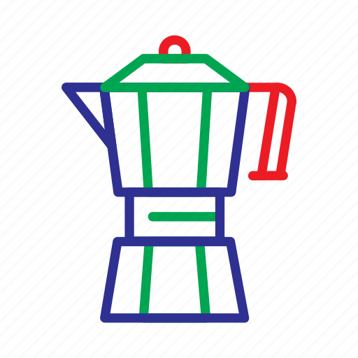 cafe, coffee, coffee bar, drink, food, moka, pot icon