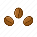 bean, beans, coffee, coffee bean icon