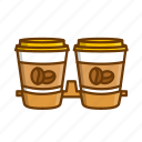 americano, coffee, paper cup, takeout coffee icon