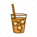 coffee, cold brew coffee, drink, iced coffee icon