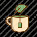 green tea, herbal tea, mint tea, tea icon