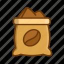 coffee bag, coffee beans, coffee production, coffee sack icon