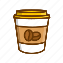 americano, black coffee, coffee, takeout coffee icon