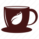 coffee, cup, flat, hot, morning icon