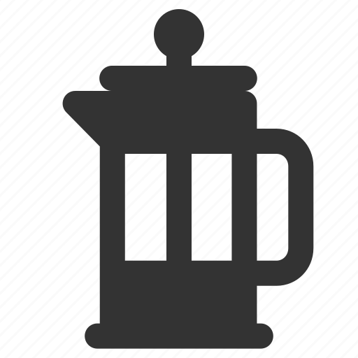 brewer, coffee, french press, maker icon