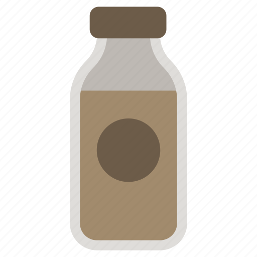bottled, coffee, decaf, drink icon