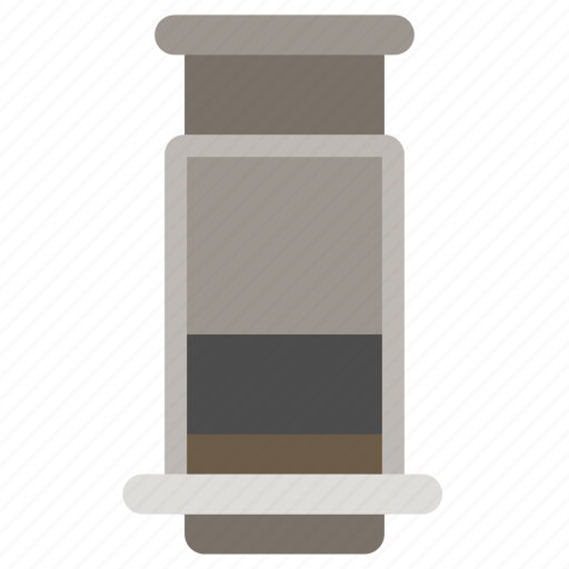aeropress, coffee brewer, coffee maker, coffeemaker icon