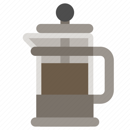 coffee brewer, coffee maker, coffee press, french press icon