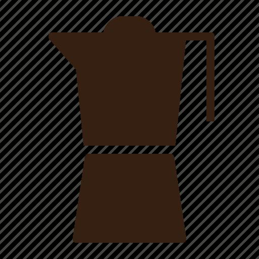 brown, cafe, coffee, moka, pot, vintage icon