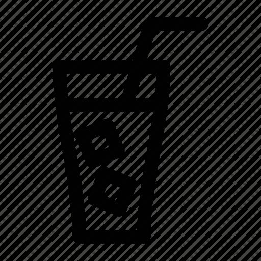 cafe, coffee, glass, ice, ice coffee icon