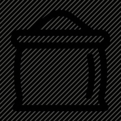 coffee, powder, sacks icon