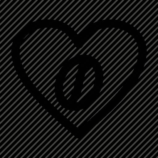 coffee, heart, love, love coffee icon