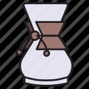 coffee, chemex, maker, drip