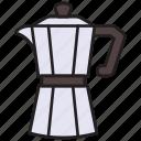 coffee, moka, pot, maker