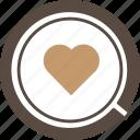 art, design, heart, latte, romance
