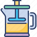cafetiere, coffee press, french press, piston, plunger, press pot, standoff
