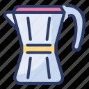 coffee, geyser, jug, machinate, maker, mocha, pot