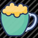 cappuccino, coffee, cream, flavor, milk, vanilla, vienna icon