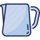 frothing, jugs, coffee, container, pitchers, latte, milk icon