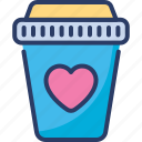 addicted, coffee, fond of, heart, like, love, matchless