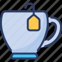 break, cup, hot drink, hotel, mug, tea, teabag