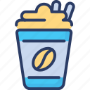 coffee, cold, creamy, energetic, flavored, shake, sweet icon