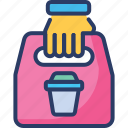 bag, bean, coffee, cup, package, product, shopping icon