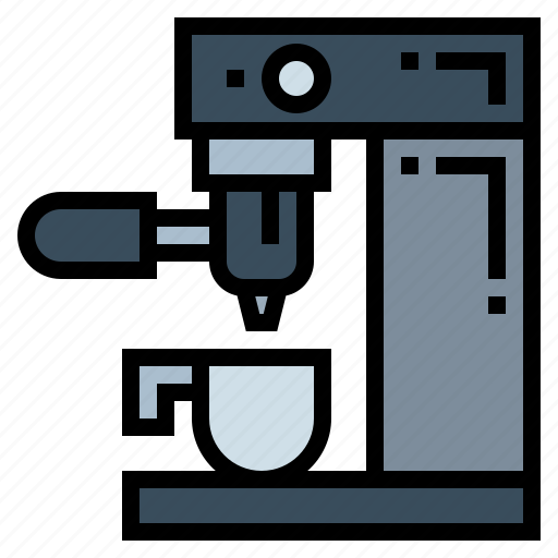coffee, cup, machine, shop icon