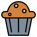 bakery, cake, cup, muffin icon