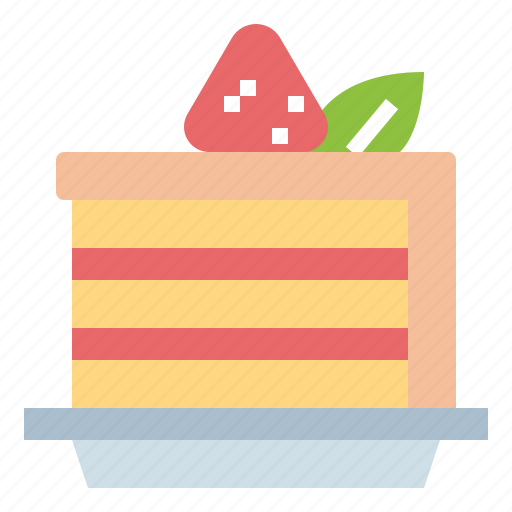 cake, dessert, strawberry, sweet icon