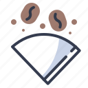 coffee, drip, dripper, fillter, paper icon