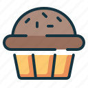 bakery, cake, cup, muffin