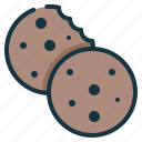biscuit, chip, chocolate, cookie icon