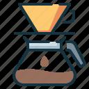 coffee, drip, dripper, over, pour icon