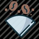 coffee, drip, dripper, fillter, paper icon