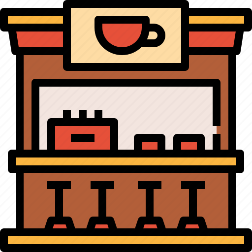 building, coffee, restaurant, shop, store icon