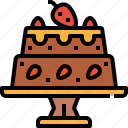bakery, cake, dessert, fruit, sweet icon